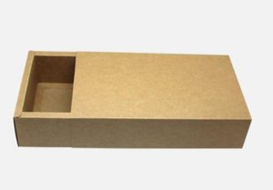 Kraft paper drawer box Tea Cosmetic gift Handmade soap food boxes packing box