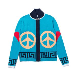 19FW Бейсбол воротник Письмо Логотип Coat высокого качества способа Негабаритные свитер женщин Мужская конструктор свитер HFYYMY004