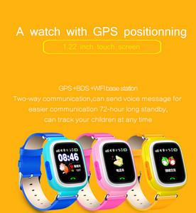 Q90 GPS niño inteligente del teléfono del reloj posición reloj de niños Color de 1,22 pulgadas de pantalla táctil WIFI SOS inteligente reloj