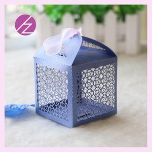 커스텀 중공업 행운 클로버 창 레이저 커팅 펄 사탕 초콜렛 선물 상자 Bridal Ribbons Birthday box with wedding wedding souvenirs