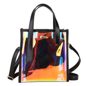 Ins Over The Fire Women Bags 2020 New Small with Money Laser Transparent Picture Package Portable Shoulder Messenger Bag