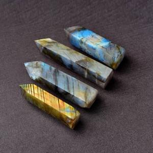 Freier Verschiffen Großverkauf Zufalls 1PC Natur Labradorite Stone Point Edelsteingriffel Quarze Mineral Specimen reiki Heilen