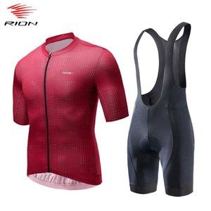 RION Männer Radfahren Sets Sommer 2020 Road Bike Jersey MTB Downhill Gel Pad einen.Kreislauf.durchmachenschellfisch Shorts atmungsaktiv Trikotset