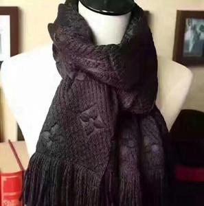 Winter Unisex 100 klassischen Brief Schal Damen Schal% Wolle und Jungen Kaschmirschal Schal Designer mit ursprünglichem Kasten Schal 180 * 35