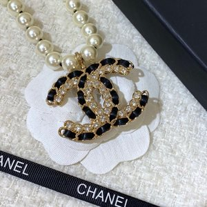 Мода-роскошный дизайнер ожерелье классический черный жемчуг хип-хоп ювелирные изделия женщины ожерелье дизайнер ожерелье для выпускного вечера цепи дизайнер ювелирных изделий