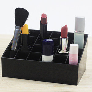 24 CellsTrapezoid renk Makyaj Ekran Ruj Case Kozmetik Organizatör Vaka Ruj Tutucu Ekran Çok renkli Akrilik Stand