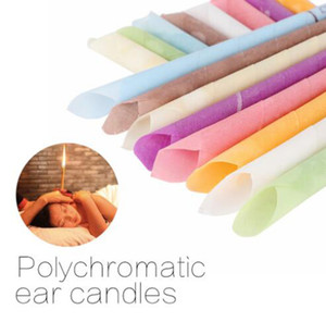 Beauty aroma ear treatment ear wax cleaner health care cone ear candle stick fragrance professional care tools 100pcs   lot