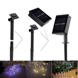 3M 200LEDs `Solar LED Strings Green Power Fácil de instalar, lâmpada de arame à prova d'água IP 44 Bateria embutida