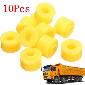 Parts 10Pcs automobile bush 10mm Inner Dia Yellow Rubber Shock Absorber Bushings Part for Auto Car Accessories sets