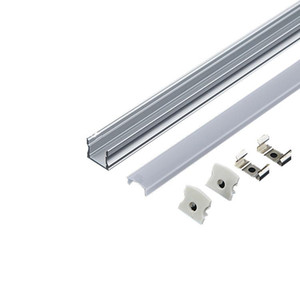 led Aluminium channel linear light aluminum profile led and 60 degree U channel with lens for ceiling or recessed wall lights 17mm