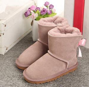 Dei nuovi bambini di Winter Snow Boots Australia stile impermeabile in pelle di mucca pelle scamosciata ragazze di inverno all'aperto Stivali Marca Ivg Dimensioni EUR 21-35