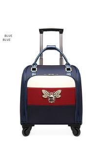 ins vermelhas líquidas mala de viagem estudante versão feminina da Coréia de pequena caixa de embarque o fresco portátil carrinho de bagagem impermeável pano de Oxford