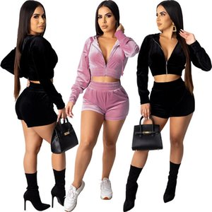 Autumn Womens Designer Tracksuits Solid Color Pinted Zipper Style Fashion Suits Women Two Piece Outfits Pants Set