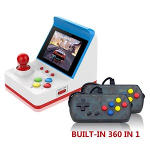 Portable Handheld game console double mini retro video game player 360 Classic games support TV out 3.0 inch TFT LCD best Children gift