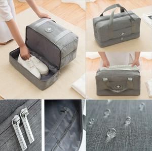Unisex Scarpe borse da viaggio impermeabile umido / secco di separazione Palestra Piscina Sport Beach Storage Sacco a mano 39 * 30 * 18 cm