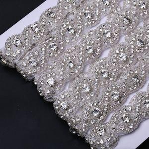 Neue Art-Perlen-Eisen auf dem heißen Verkauf Funkelnden Strassapplikationen 5yard / roll für Frauen Kleidung GBE-1