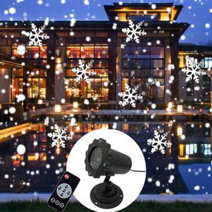 크리스마스 파티 등을위한 헤드 레이저 눈 LED 무대 조명 이동 새로운 미니 폭설 프로젝터 크리스마스 조명 야외 프로젝터 IP65