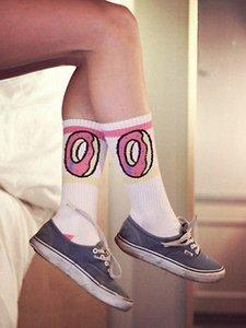kış Harajuku çörek Desen çorap Unisex menwomen Çorap Cottom Sıcak Çorap çorap