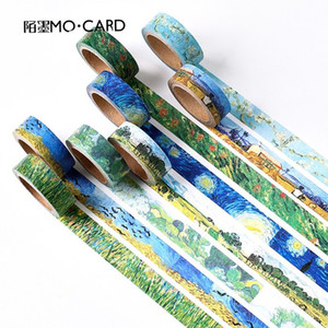 1 pcs Washi Tapes DIY Van Gogh Painting paper Masking tape Decorative Adhesive Tapes Scrapbooking Stickers Size 15 mm*7m 2016