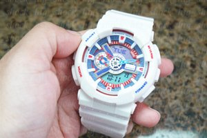 Neu Neu !! Marke Herrenarmbanduhr Sport Dual-Display GMT Digital LED reloj für Jugendliche Militäruhren relogio masculino hombre