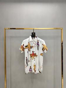 2020 Mens Designer Camicie Designer Nero Bianco Rosso Moda Uomo Top manica corta L'alta qualità S-XXL131