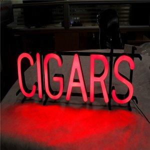 партия личный простой красный свет знак высокое качество смолы светодиодные сигары Sig для табачного магазина открытый светодиодный свет рекламы