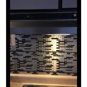 4 estilo mosaico autoadhesivo baldosas espalda con pegatina de pared vinilo baño cocina decoración casera bricolaje