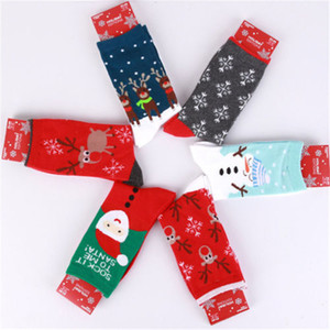 New Arrival Christmas Gift Women Soft Winter Warm Wool Socks Xmas Cute Deer Sock Comfortable 15 Style Ankle Length Socks