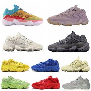 2020 Suave Visão Kanye West 500 Clourful Blush Utility Preto Running Shoes Osso do branco dos homens sapatilhas das mulheres de pedra Super Lua sal amarelo