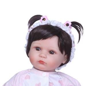 40cm Silikon Reborn Baby Doll Çocuk Playmate Hediye Kız Buketler Doll Bebes Reborn Oyuncaklar için Baby Doll Alive Yumuşak oyuncaklar için