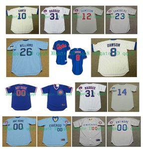 Vintage Chicago Jerseys ADDISON RUSSELL Ernie Banks JAVIER BAEZ Andre Dawson Anthony Rizzo Ben Zobrist Billy Williams DAVID ROSS Baseball