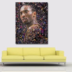 Salon Tuval Posterler ve Baskılar Cuadros Resmi Boyama tek parça Wall Art Moda Basketbol oyuncusu Yağı