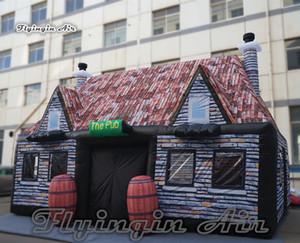 La longueur gonflable adaptée aux besoins du client de maison de village 8m de Chambre de pub irlandais de pub sautent la tente de camping de jardin pour l'événement de partie extérieure
