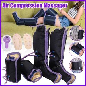 전기 공기 압축 다리 마사지 다리 랩 발 발목 종아리 마사지 기계는 혈액 순환을 해제 통증 피로를 홍보