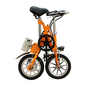 36V250W 14 '' bicicleta plegable eléctrica con batería de litio ebike motor sin escobillas