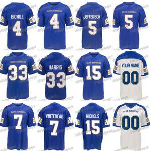 2019 Winnipeg Blue Bombards 4 Adam Bighlill 33 Andrew Harris 5 Willie Jefferson 15 Matt Nichols 7 Lucky Whitehead Jersey
