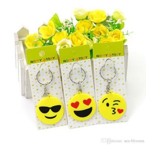 Toptan 6 Stilleri çocuk QQ Emoji Kauçuk Anahtarlıklar Sarı Emoji Anahtarlıklar İfadeler Anahtarlık Çanta Aksesuarları Hediyeler Çocuklar Için Oyuncaklar H440R