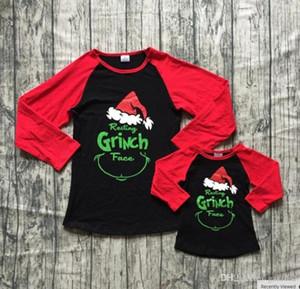 Новые евро-американские родители и детская футболка для матери и дочери Рождественская письма напечатана футболка бесплатная доставка 2 шт.