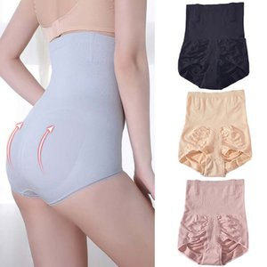 Mode Nouveau Solide Couleur antibactériennes Réglage Panties femmes postpartum taille haute serrage ventre Briefs Mise en forme