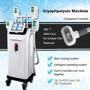4 asas Cryo cuerpo de presión de aire de la máquina cuerpo terapia equipo de congelación de grasa máquina cryolipolysis de adelgazamiento vacío que adelgaza