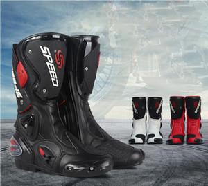 erkek yaz kış mevsimini karşıtı sonbahar sürme çizmeler motosiklet ayakkabı şövalye yarış ayakkabıları yarış dört mevsim ayakkabı sürme Motosiklet botları