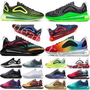 2020 72c سادة أحذية رياضية رجالي الكهربائية الشبح الأخضر الرياضة الاحذية جامعة الأحمر رياضة فلاش المرأة مدرب حجم 36-45