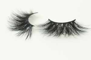 20 Style 5D Mink Eyelashes Handmade 25MM Full Strip Eyelash Thick Mink False Lashes With Sparkly Rectangle Boxes