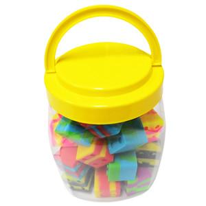 30pcs / can 9ml forma di mini Cube forma contenitore in silicone colorato per Dabs forma rotonda contenitori di silicone cera vasi in silicone Dab contenitori