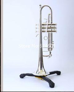 Yeni Geliş 180S sistemi -37 Ağız ile Bb Düz Küçük Trompet Gümüş Kaplama Müzik Aletleri Yüksek Kalite