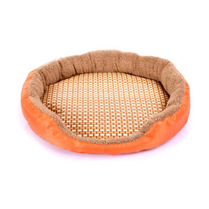 Oval Shape Fashionable Lovely Cute Pet Dog Cat Summer Mat House Bed Soft Breathable Pet Sleeping Mat Pets Dogs Animal Pad