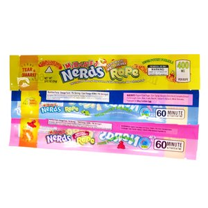 5 Colors Nerds Rope Packaging Vape Packaging Edibles Vape Packaging for Dry Herb Vaporizer Zipper bag