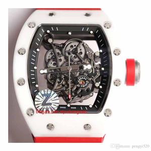 RC48-14 Designer-Uhr, Skelett-Design, RM055 Serie, Keramikgehäuse, Automatikwerk, importiert Gummiband, Faltschliesse. Mehrere