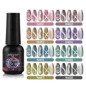 8ml 9D Crystal Cat Eye Gel Nail Polish for Manicure Vernis Semi Permanent Base Top Coat Soak Off UV LED Nails Art Tool