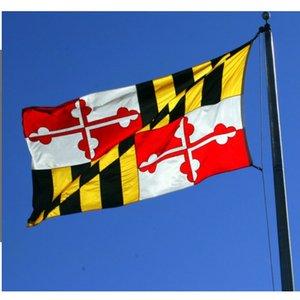 Maryland-Flagge 3x5 Ft Gewohnheit Amerika USA State Flags Fliegender Hanging preiswerter Preis mit zwei Tüllen